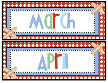 The Learning Clinic/A Classroom Decorating Theme/Months of the Year Headers
