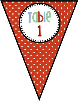 The Learning Clinic/A Classroom Decorating Theme/Table Pennants-editable