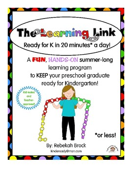 The Learning Link:  A Summer Program to Get Kids Ready for K in 20 Minutes a Day