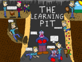 The Learning Pit Cartoon Poster