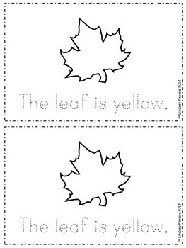 The Leaves Emergent Reader