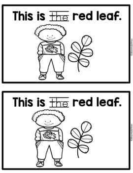 The Leaves Emergent Reader: Sight Word: The with Color Words