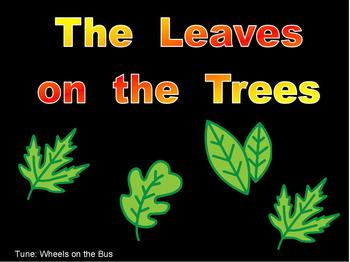 The Leaves on the Trees-  Fall Shared Reading PowerPoint