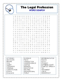 The Legal Profession: Word Search (Student Worksheet & Tea