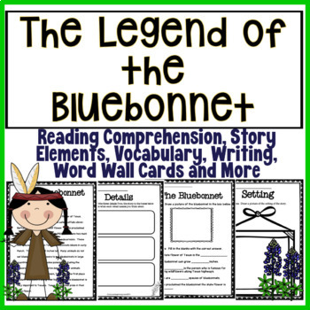 The Legend Of The Bluebonnet - Printable Activities