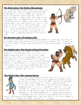 The Legend of Hercules Close Reading Passage with Text Dependent Questions