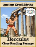 The Legend of Hercules Reading Passage & Questions - Printable & Google Ready