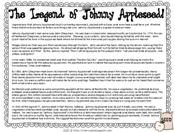 The Legend of Johnny Appleseed {lit response bundle}