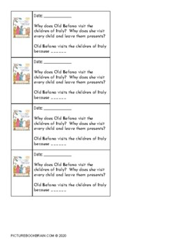 The Legend of Old Befana by Tomie dePaola Lesson Plan and Activities
