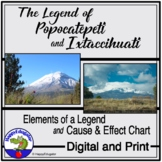 The Legend of Popocatepetl and Ixtaccíhuatl - Cause and Effect Chart