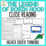 The Legend of Robin Hood Traditional Literature Comprehension Passages