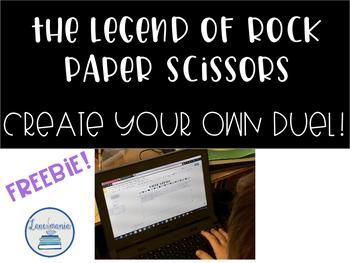 The Legend of Rock Paper Scissors Create Your Own Battle FREEBIE!