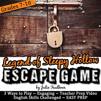 The Legend of Sleepy Hollow Escape Game Break Out Box Activity