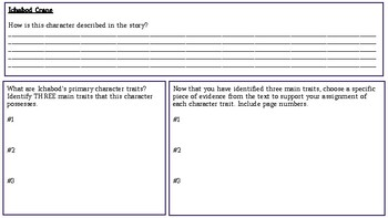 The Legend of Sleepy Hollow: Character Workbook