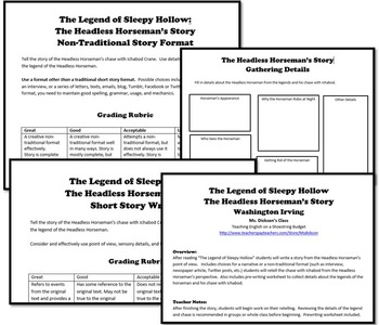 The Legend of Sleepy Hollow Headless Horseman's Story (Washington Irving)