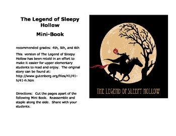 The Legend of Sleepy Hollow Mini-Book