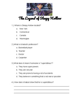 The Legend of Sleepy Hollow Movie Questions (Disney)