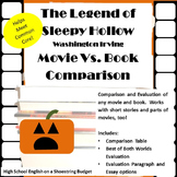 The Legend of Sleepy Hollow Movie vs Book Comparison (Washington Irving)