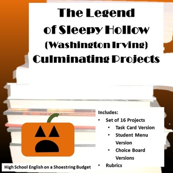 The Legend of Sleepy Hollow Projects [Task Cards] (Washing