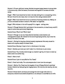 The Legend of Sleepy Hollow Readers' Theater Script