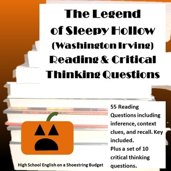 The Legend of Sleepy Hollow Reading & Thinking Questions (Washington Irving)