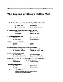 The Legend of Sleepy Hollow Test