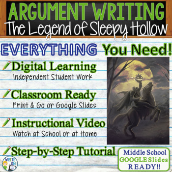 The Legend of Sleepy Hollow - Text Dependent Analysis Argumentative Writing
