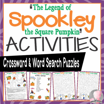 The Legend of Spookley the Square Pumpkin Activities Crossword & Word Searches
