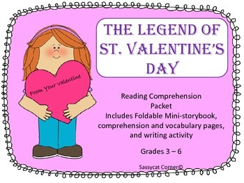 The Legend of St. Valentine's Day Foldable Book and Activities