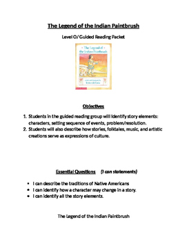 The Legend of The Indian Paintbrush Book Club Activities