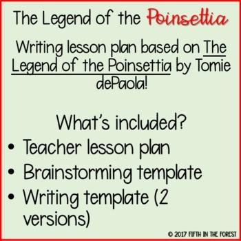 The Legend of the Poinsettia Writing Lesson FREEBIE