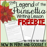 The Legend of the Poinsettia Writing Lesson FREEBIE