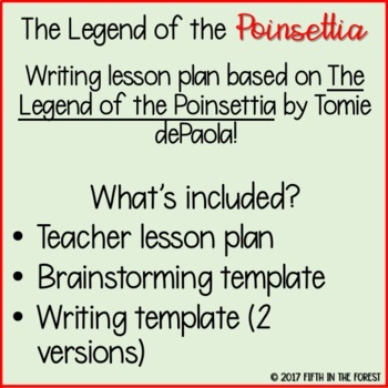 The Legend of the Poinsettia Writing Lesson FREEBIE by Fifth in the ...