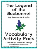 The Legend of the Bluebonnet- 20 Pages of Vocabulary Activities!