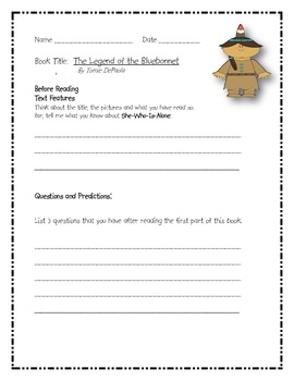 The Legend of the Bluebonnet - Comprehension Guide