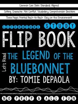 The Legend of the Bluebonnet: A Literature Study Flip Book!