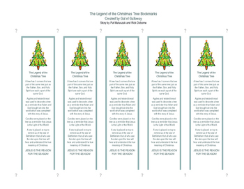 The Legend of the Christmas Tree Bookmarks