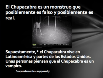 The Legend of the Chupacabra: La Leyenda del Chupacabra