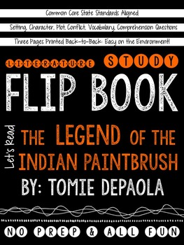 The Legend of the Indian Paintbrush: A Literature Study Flip Book!