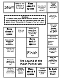 The Legend of the Indian Paintbrush - comprehension game board