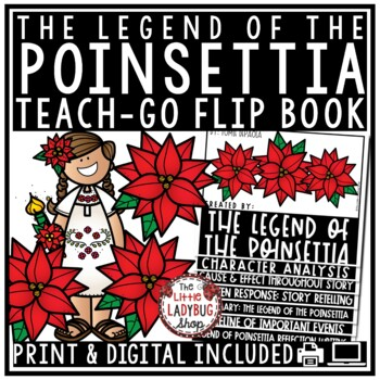 The Legend of the Poinsettia Activities Flip Book- Christmas Reading Book Review