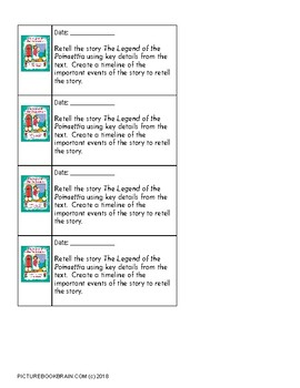 The Legend of the Poinsettia by Tomie dePaola Lesson Plan and Activities