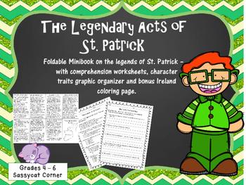 St. Patrick's Day - St. Patrick biography mini book and worksheet set