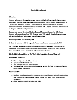 The Legislative Branch/Congress