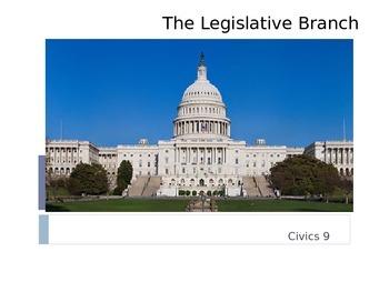 The Legislative Branch (Congress) PowerPoint