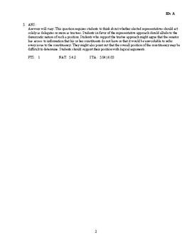 The Legislative Branch Discussion/Essay Questions