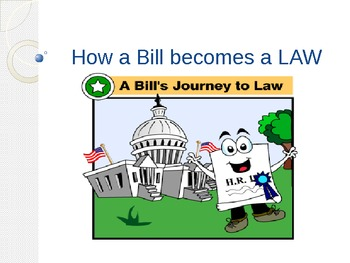 The Legislative Branch & How a Bill becomes a Law