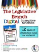 The Legislative Branch Interactive Notebook for Google Drive