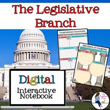 The Legislative Branch Interactive Notebook for Google Drive