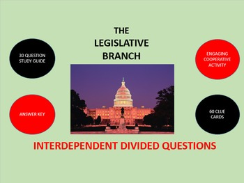 The Legislative Branch: Interdependent Divided Questions
